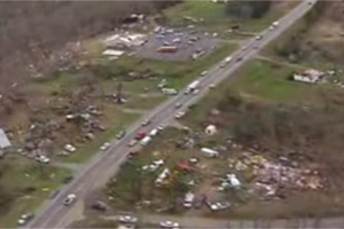 Tornado That Struck Van Buren County Rated EF-2_8226265944543871032