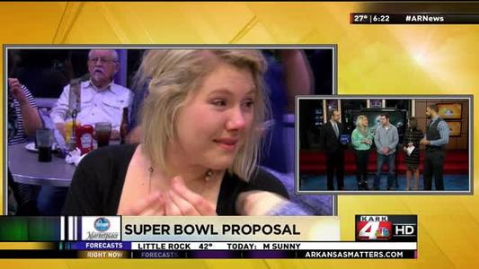 Super Bowl Proposal Sponsored by Sissy's Log Cabin_297928358174346652
