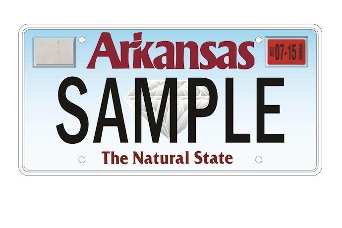 Arkansas license plate, car tag, decals_4569890096448685001