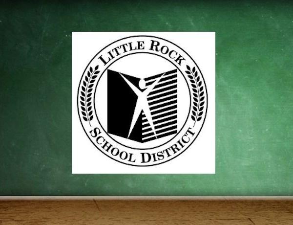 Little Rock School District Logo on Chalkboard Background_-1679510138362574966