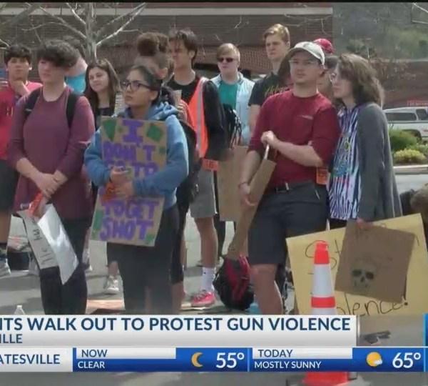 Fayetteville Students Walkout on Columbine Anniversary