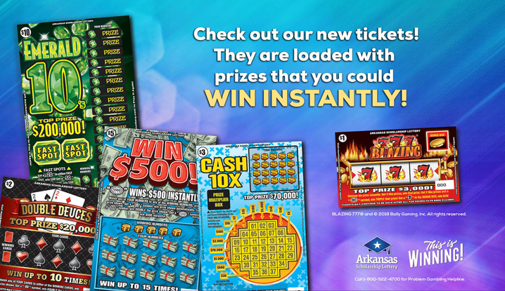Five New Instant Tickets for AR Lottery