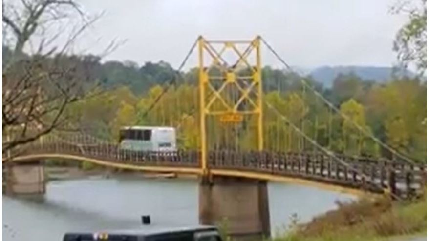 WATCH: Beaver Bridge Bending While Bus Goes Over It