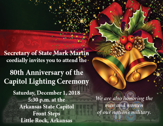 80th Capitol Lighting Ceremony Set For Saay December 1