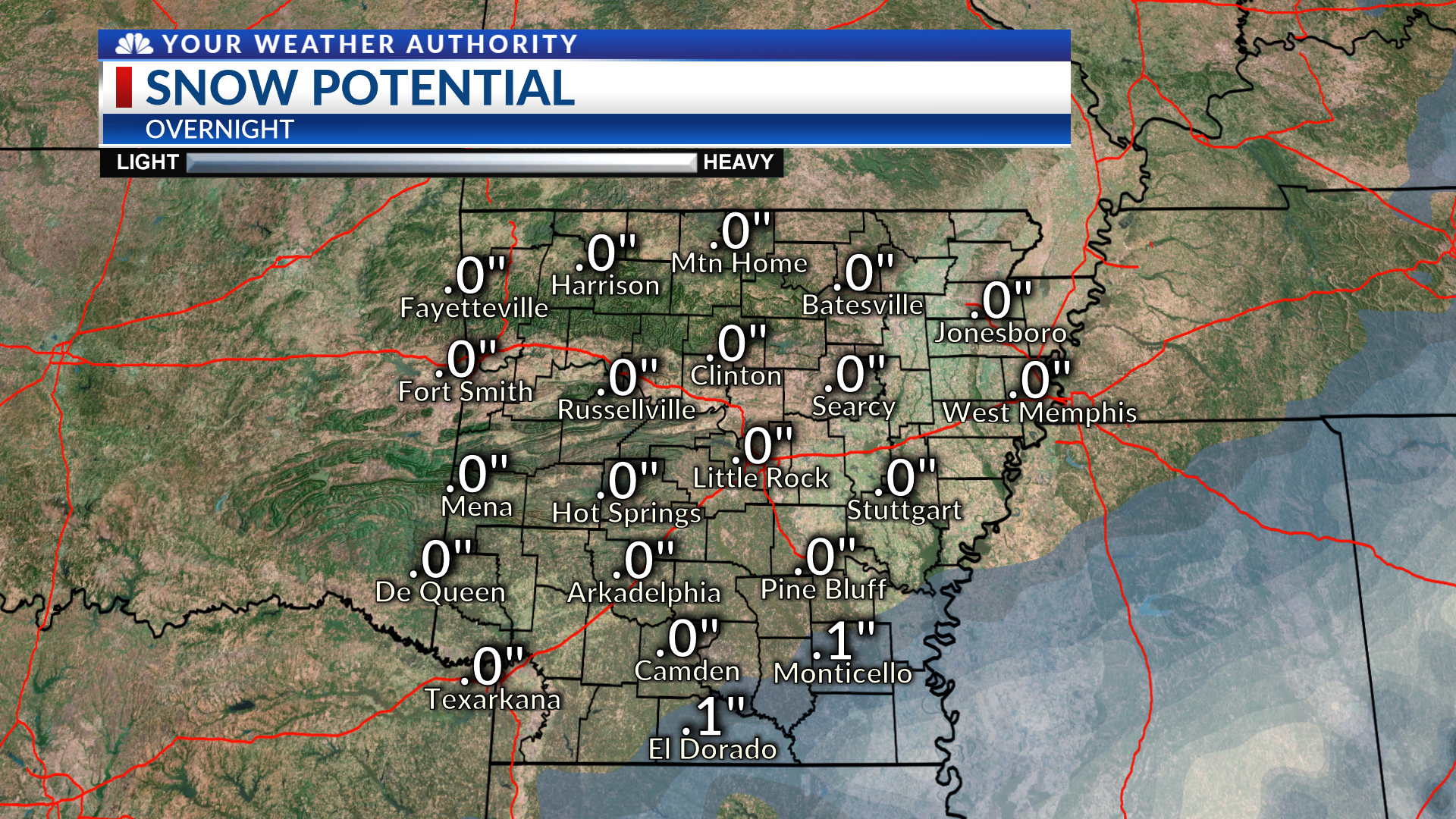 Arctic Air On the Way, Snow Possible for SE Arkansas