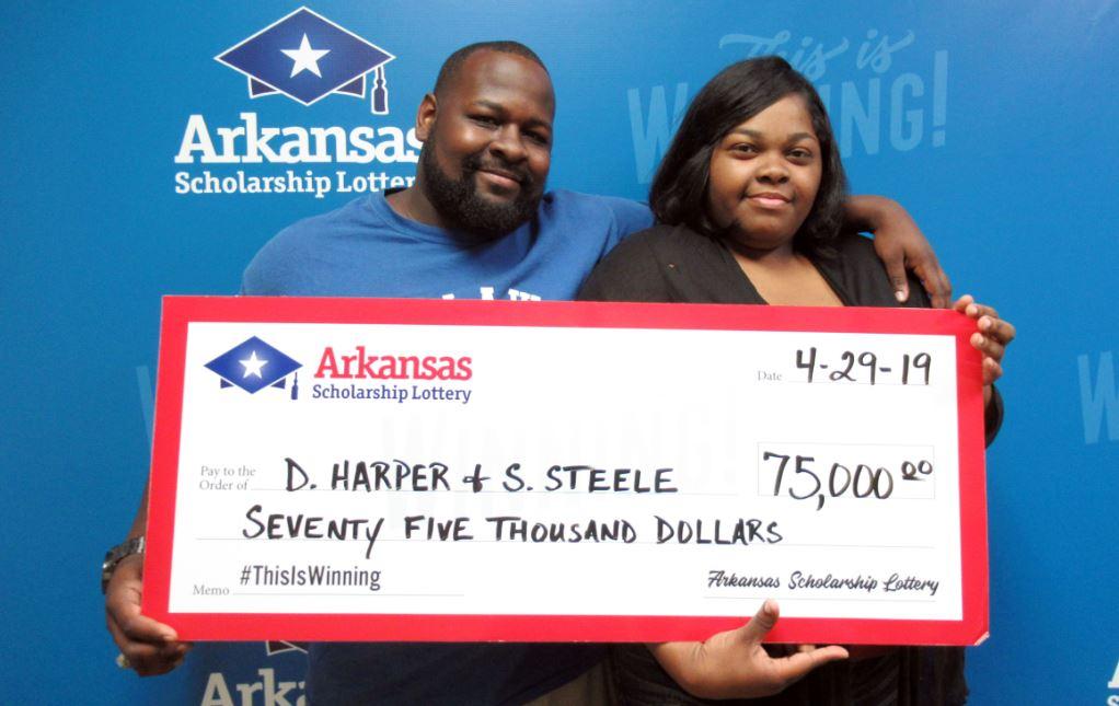 Arkansas couple wins $75,000 lottery prize_1556561902989.JPG.jpg