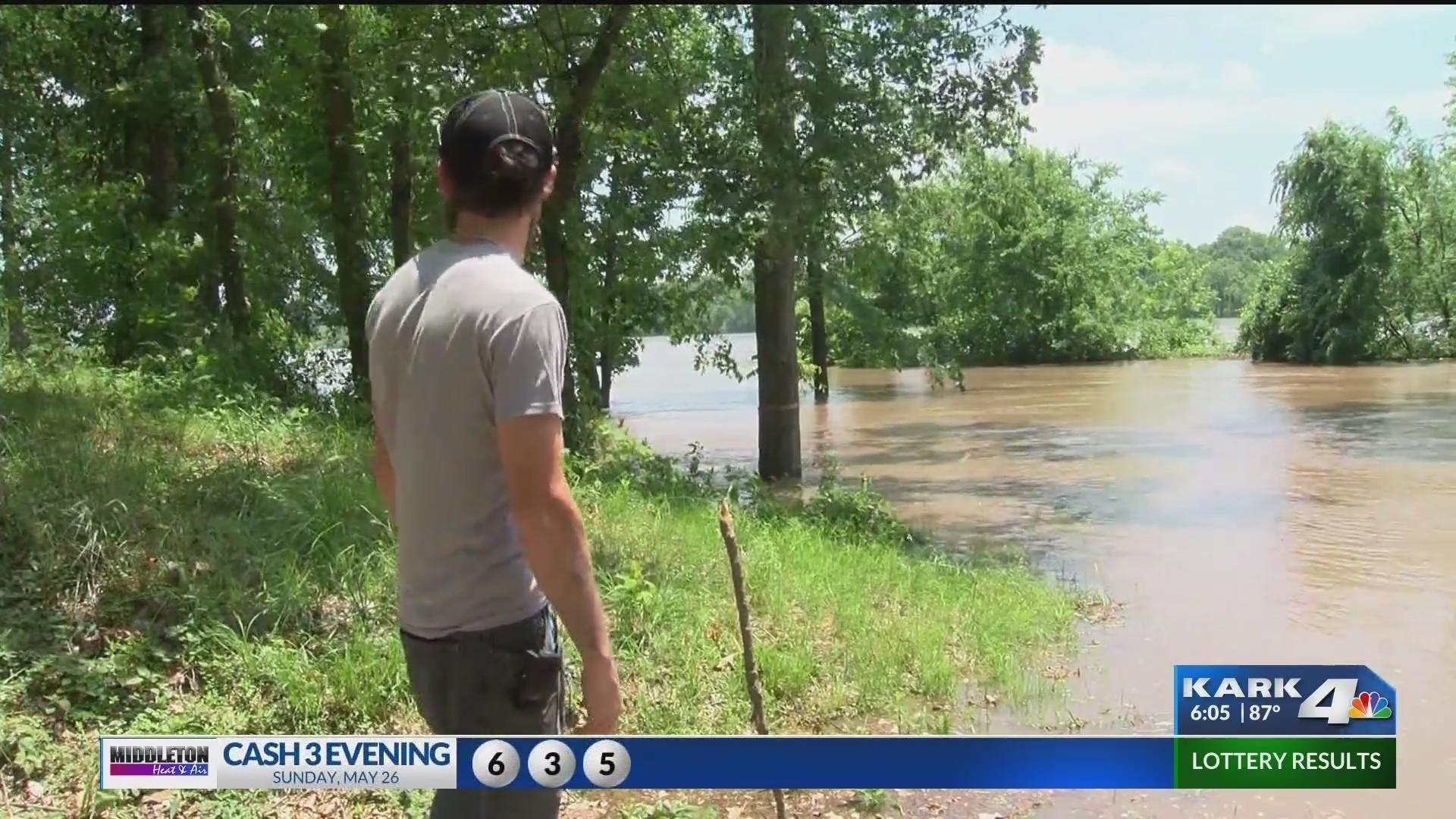 Pope County park evacuated as Arkansas River rises