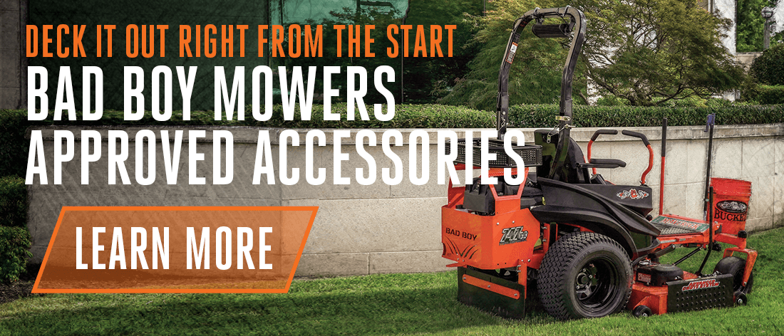 Deck Out Your Mower With Bad Boy Approved Options & Accessorie