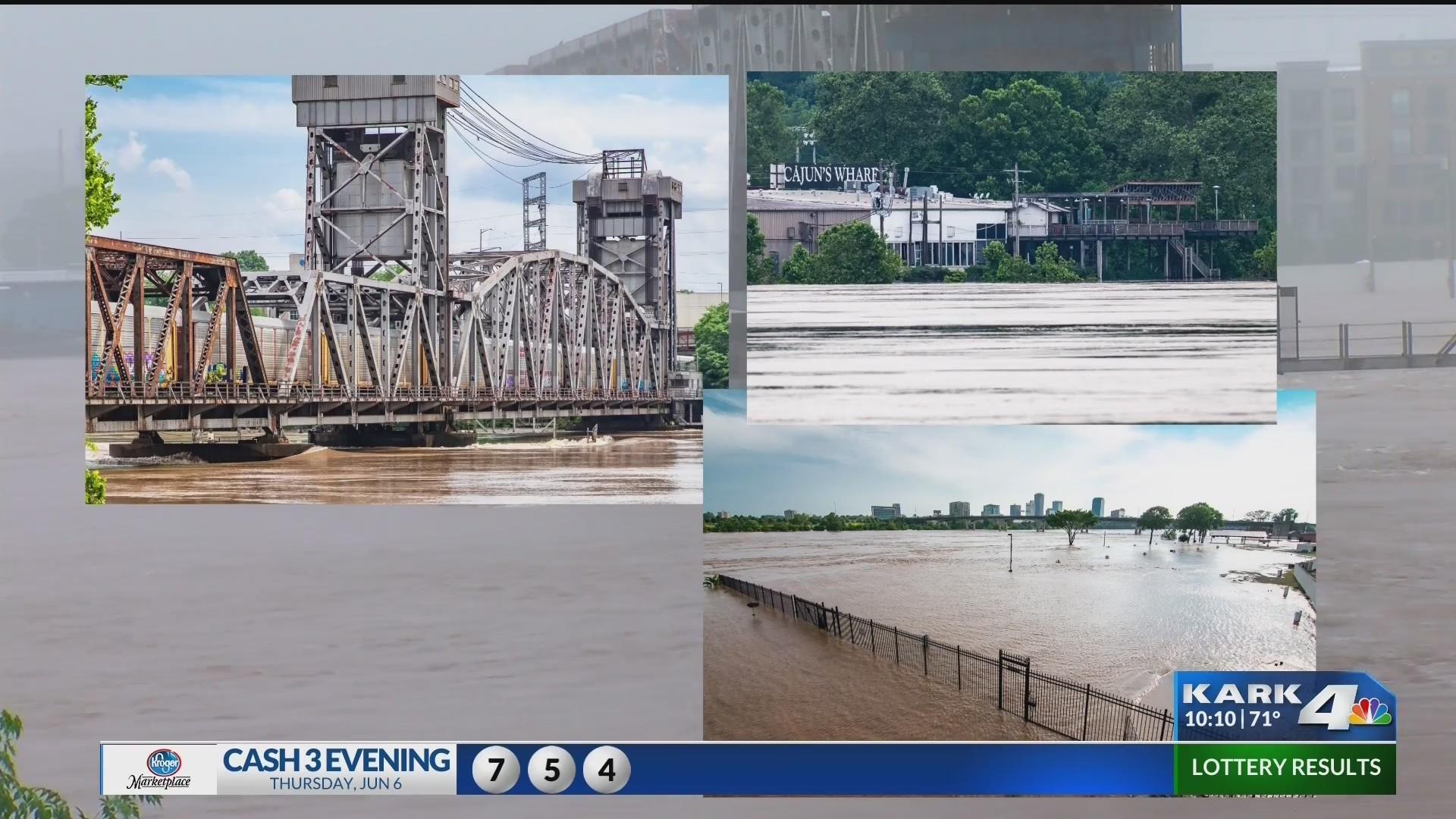 Historic river flooding through the eye of a lens