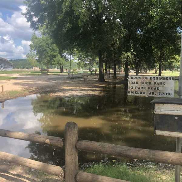 Toad Suck Park still has standing water weeks after flooding