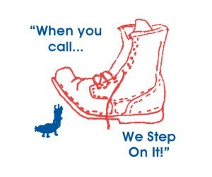 When you call, we step on it!