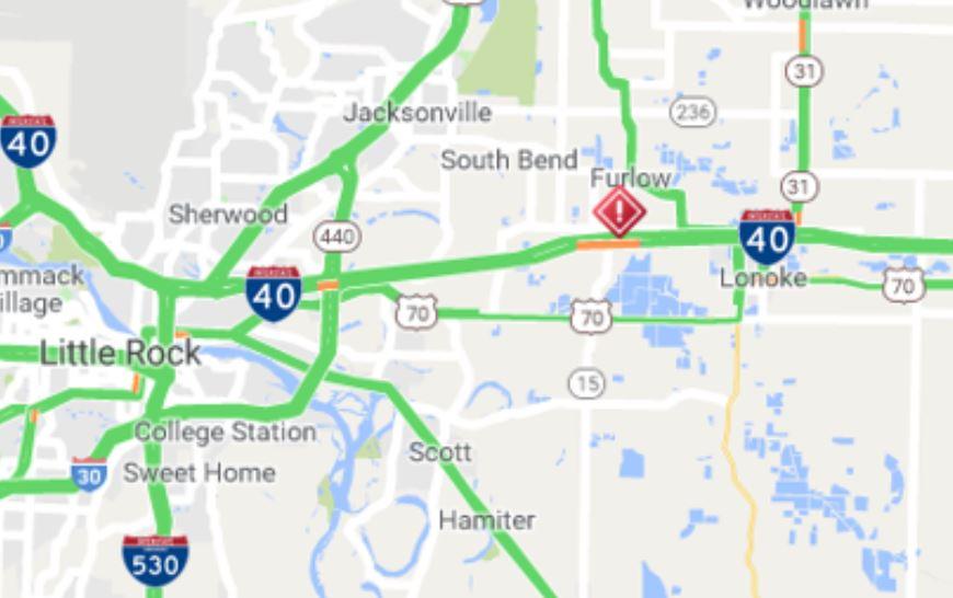 18-wheeler burns on I-40 in Lonoke County | KARK on