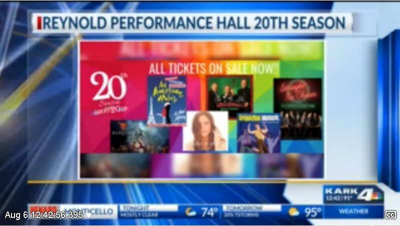 Reynolds Performance Hall announces the 2019-2020 season line-up | KARK