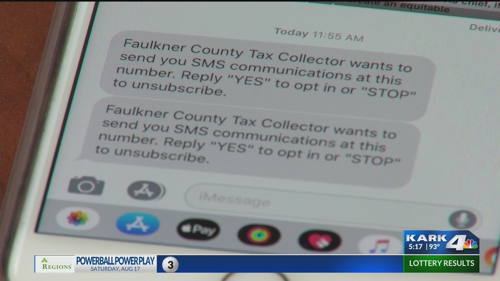 Tax payers confuse text message with a scam   KARK