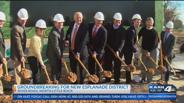 Esplanade District project underway in North Little Rock