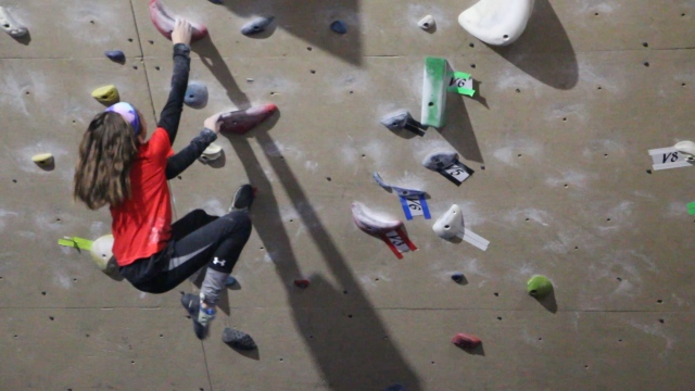 Digital Original: 10-year-old girl is only female in the state headed to National Climbing Competition