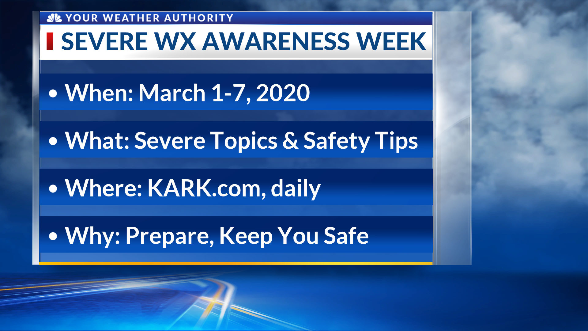 Severe Weather Awareness Week: March 1-7, 2020